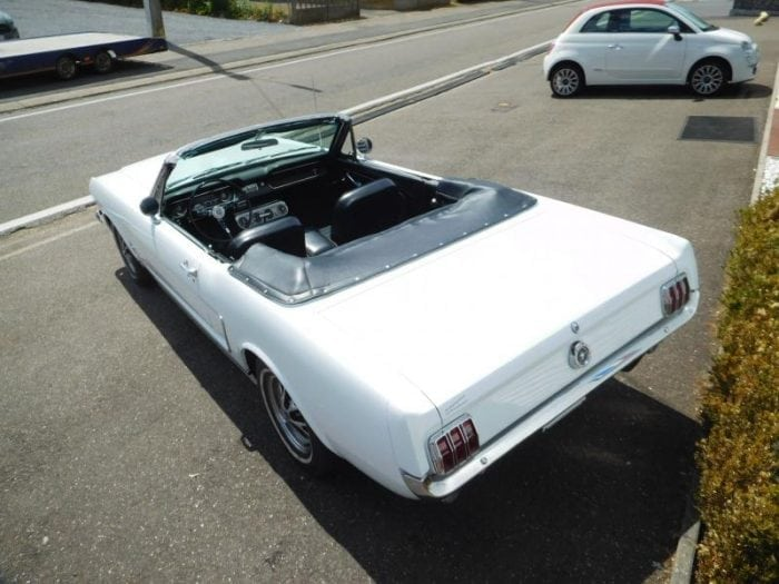 white Ford Mustang 1965 convertible #711