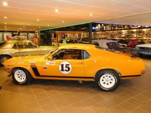 "Grabber orange racer Ford Mustang 1970 fastback ""trans am"" #713"