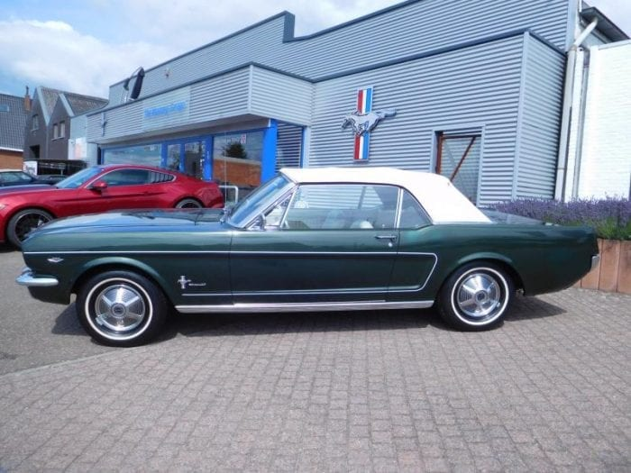 ivy green Ford Mustang 1965 Convertible #729